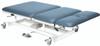 "bariatric treatment table - hi-low, 76"" L x 36"" W x 22 - 38"" H, 3-section, castors, 800 lb. weight capacity"
