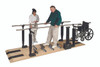 "Parallel Bars, wood platform mounted, electric height/manual width adjustable, 10' L x 15"" - 28"" W x 29"" - 44"" H"