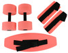 CanDo¨ deluxe aquatic exercise kit, (jogger belt, ankle cuffs, hand bars), small, red