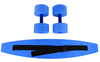 CanDo¨ aquatic exercise kit, (jogger belt, hand bars) large, blue