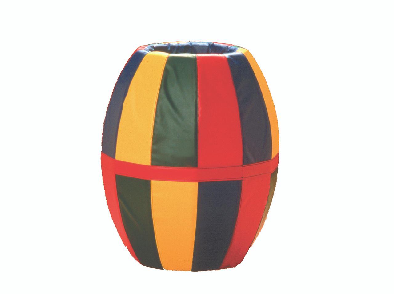 """Barrel Roll (multi-colored) 38""""L x 32""""Diam."""