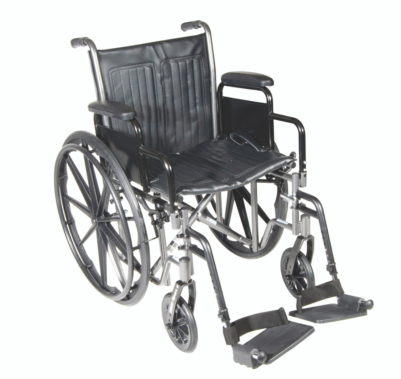 "16"" wheelchair with removable desk armrest, swing away footrest"