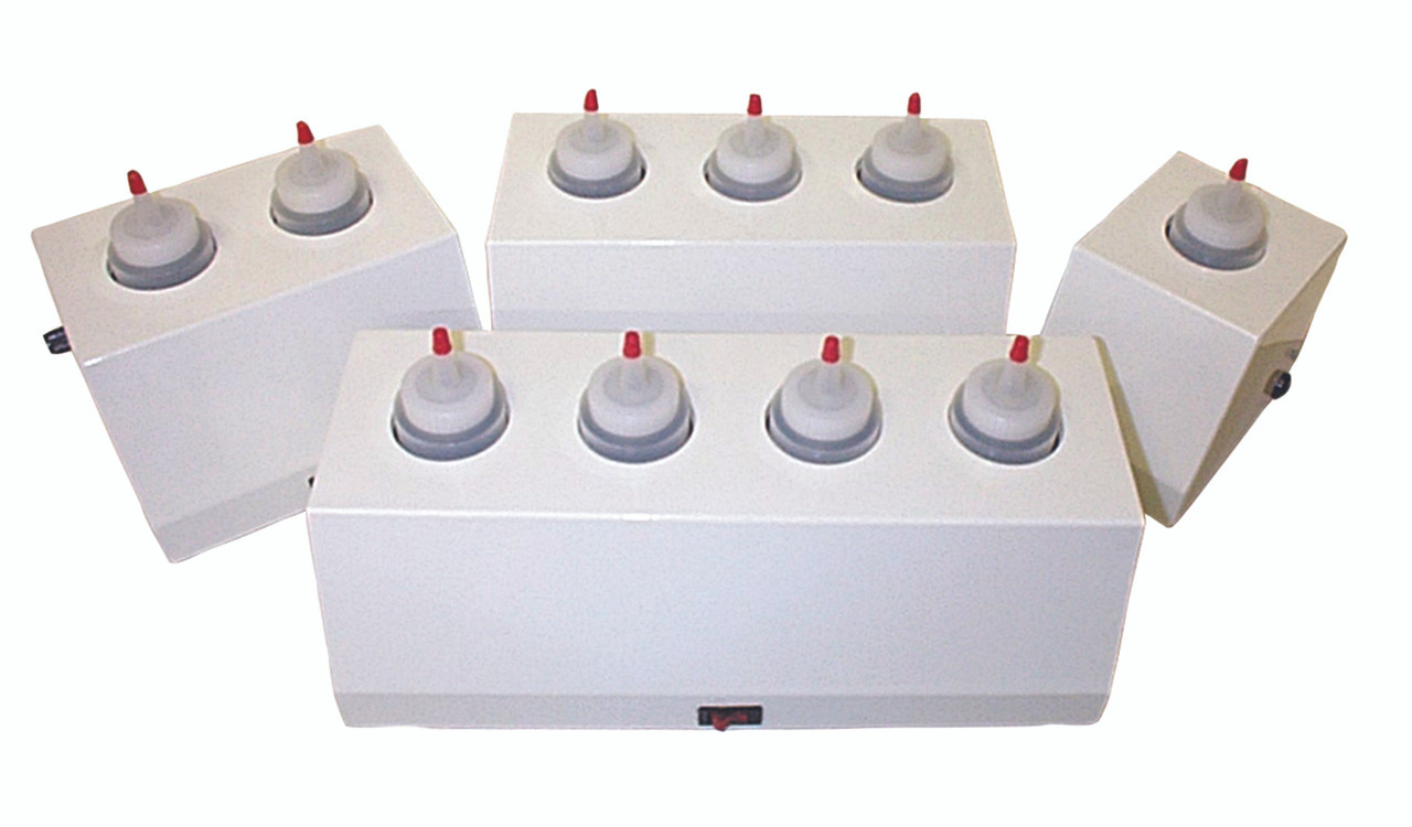 8 ounce gel warmer, 2 bottle capacity