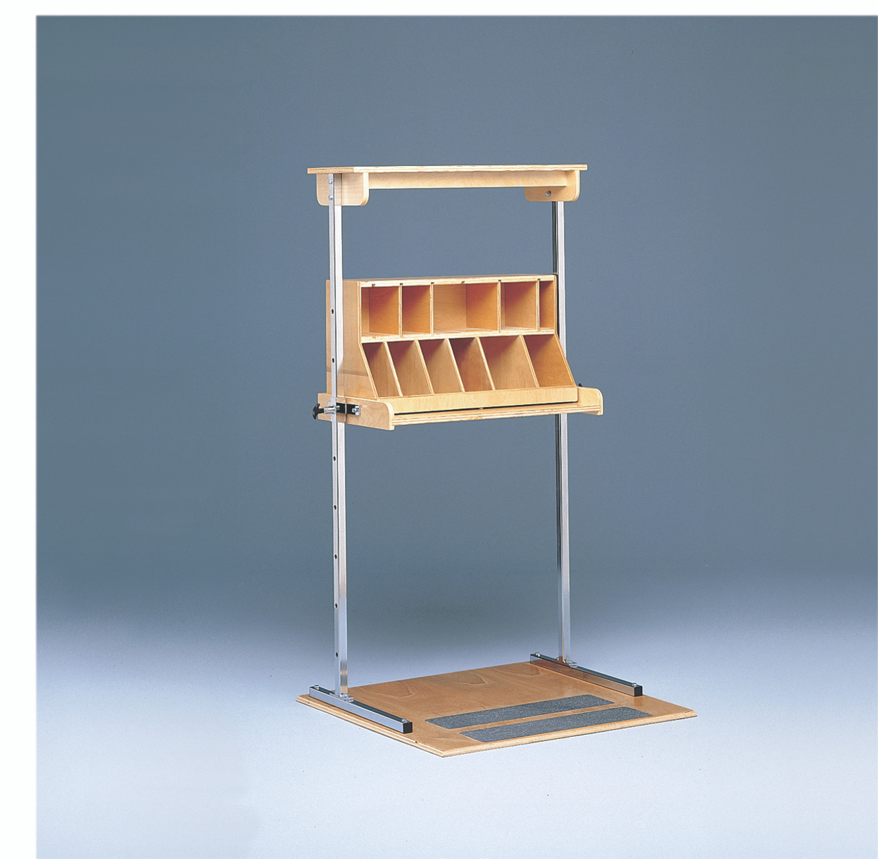 Work Hardening - Adjustable Height Shelf Assembly with Sorting Bin
