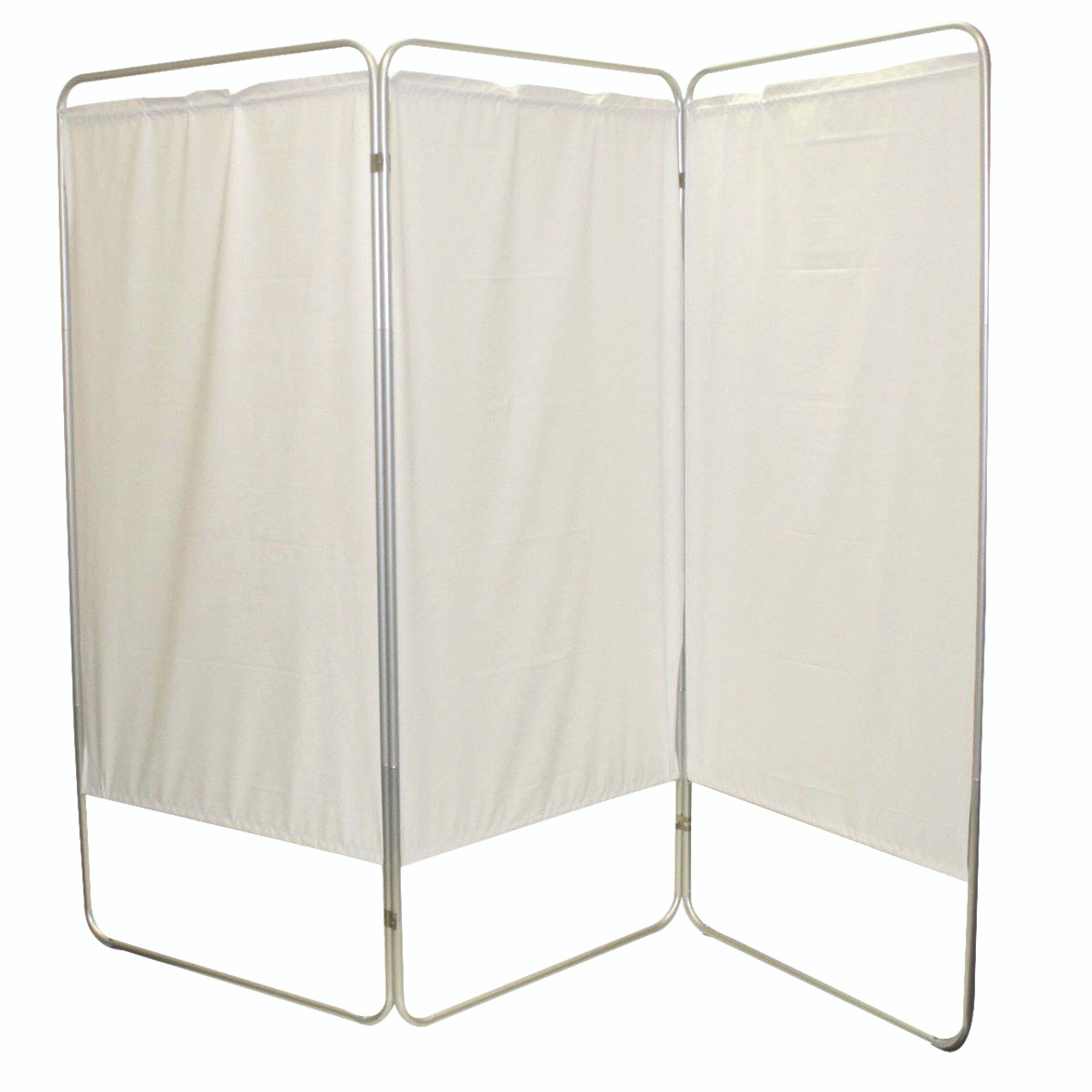 """King size 3-Panel Privacy Screen - Yellow 4 mil vinyl, 85"""" W x 68"""" H extended, 31"""" W x 68"""" H x2.5"""" D folded"""