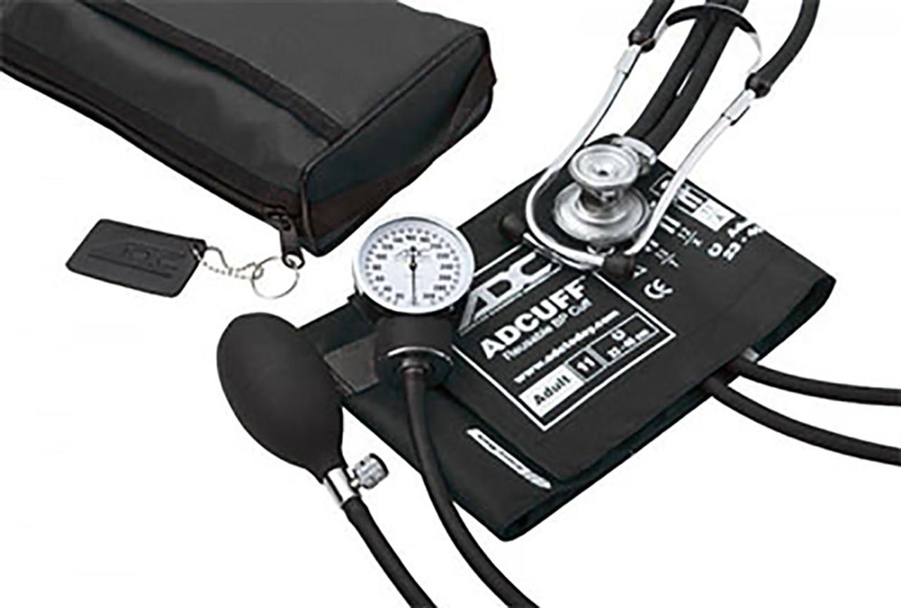 ADC Pro's Combo II SR Pocket Aneroid/Sprague Kit, Adult, Black