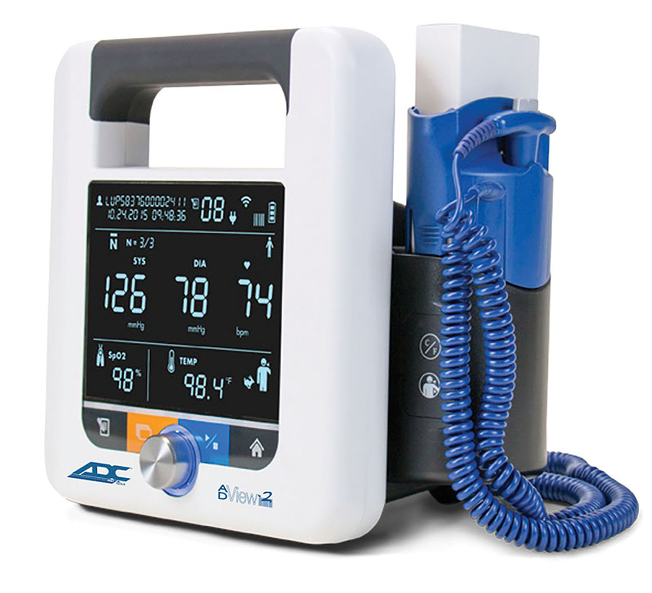 ADC AdView 2 Diagnostic Station, w/ Blood Pressure and Temperature Modules