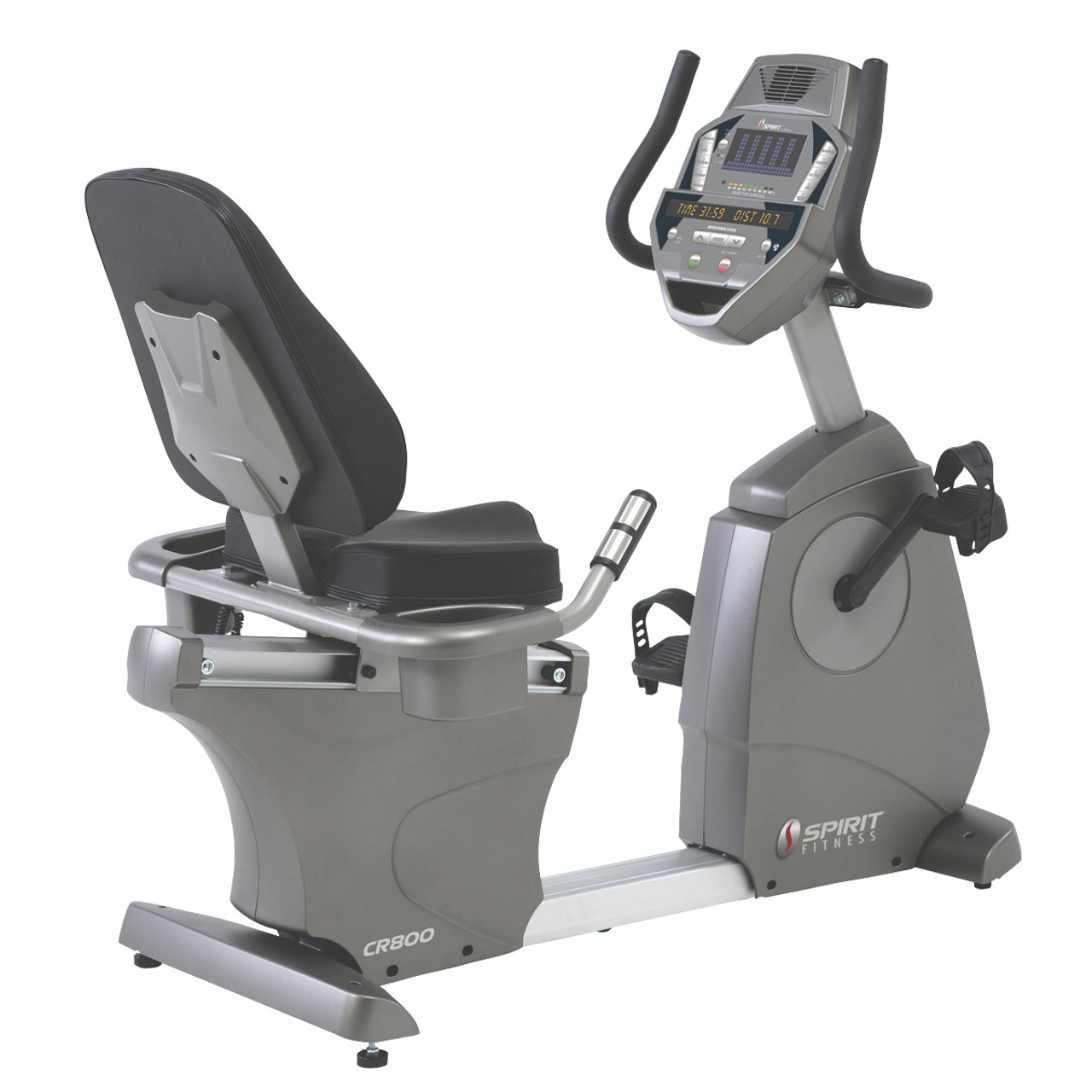 "Spirit CR800 Recumbent Bike, 57"" x 30"" x 51"""