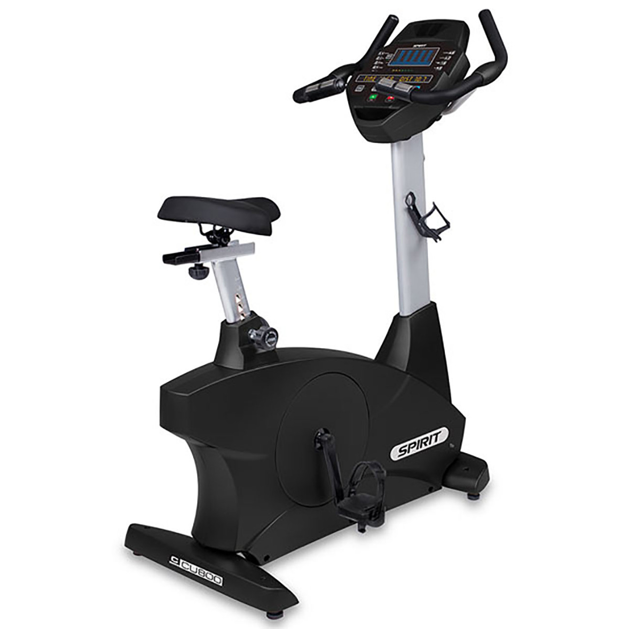 "Spirit CU800 Upright Bike, 42"" x 21"" x 53"""
