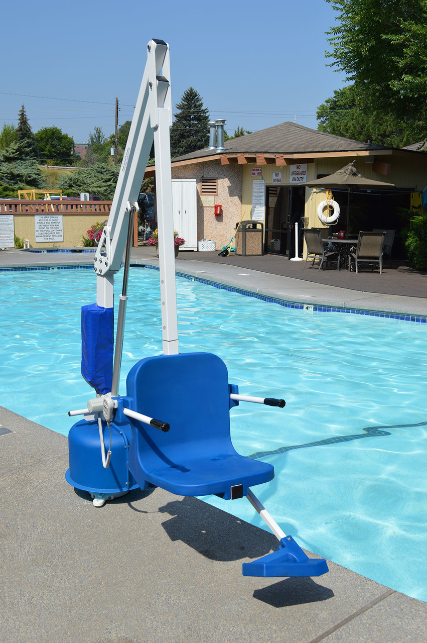 The Scout 2 Pool Lift, adjustable seat pole, no anchor