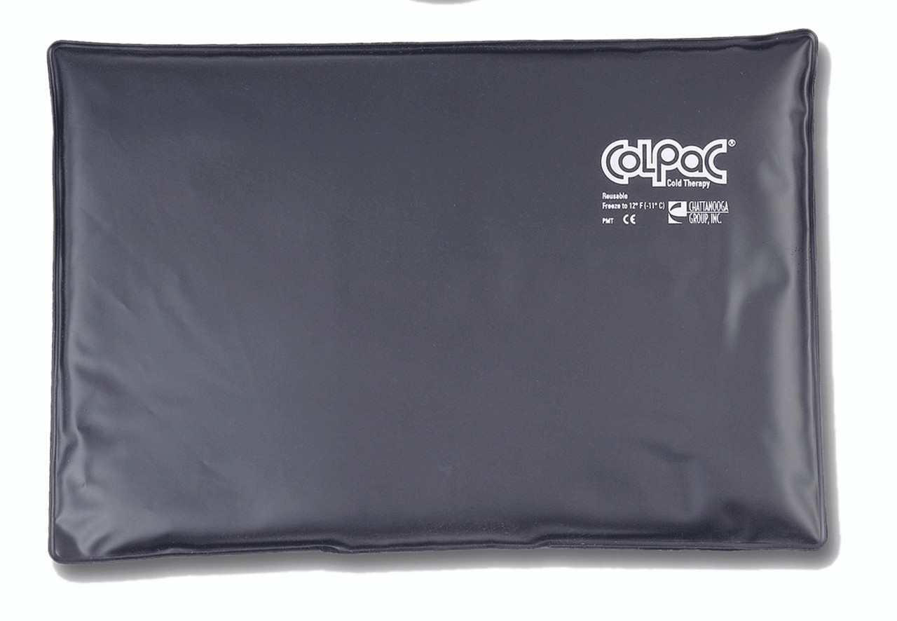 """ColPaC Blue Vinyl Cold Pack Black Urethane Cold Pack - oversize - 12.5"""" x 18.5"""""""