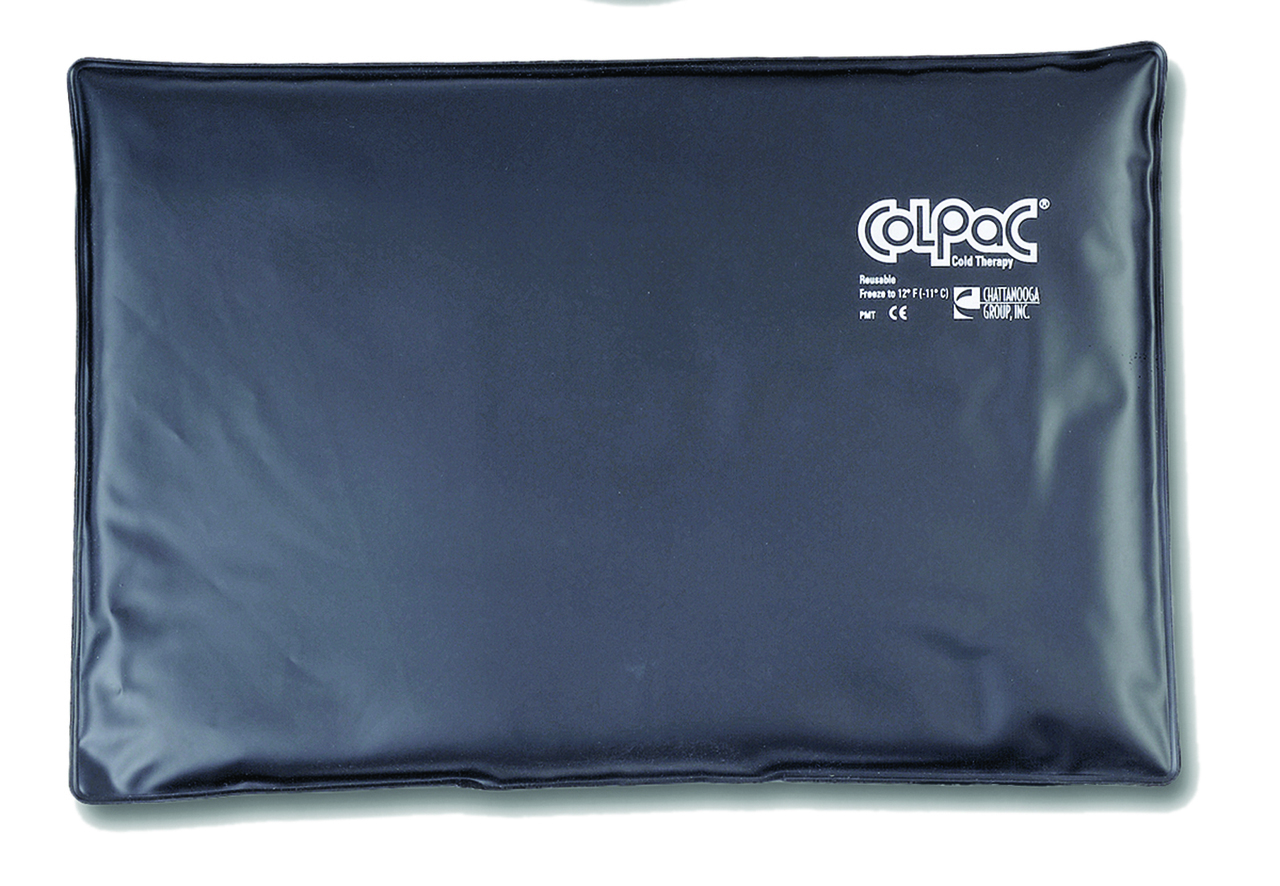 """ColPaC Blue Vinyl Cold Pack Black Urethane Cold Pack - oversize - 12.5"""" x 18.5"""" - Case of 12"""
