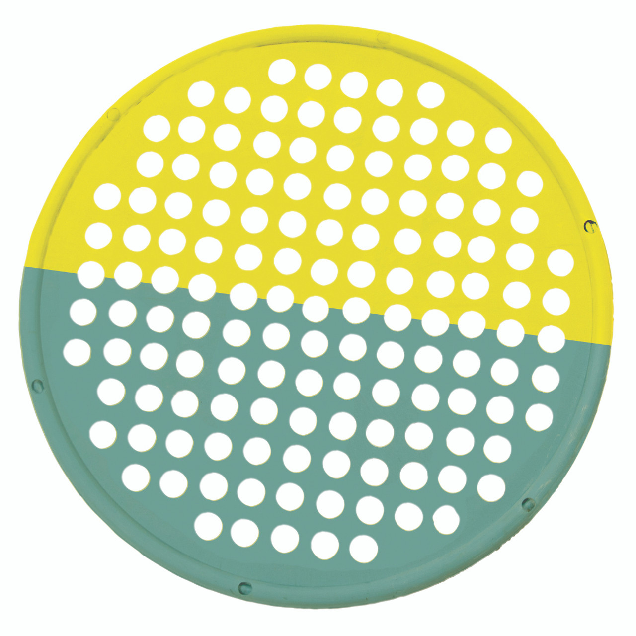 """CanDo¨ Hand Exercise Web - Low Powder - 14"""" Diameter - multi-resistance, Yellow/Green"""