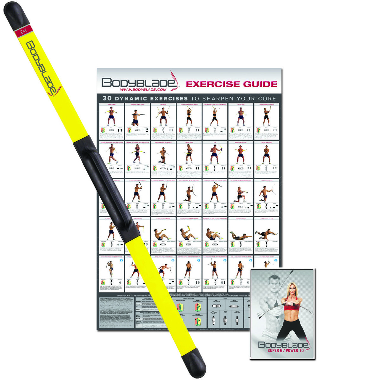 Bodyblade¨ CxT with workout and instructional video, yellow