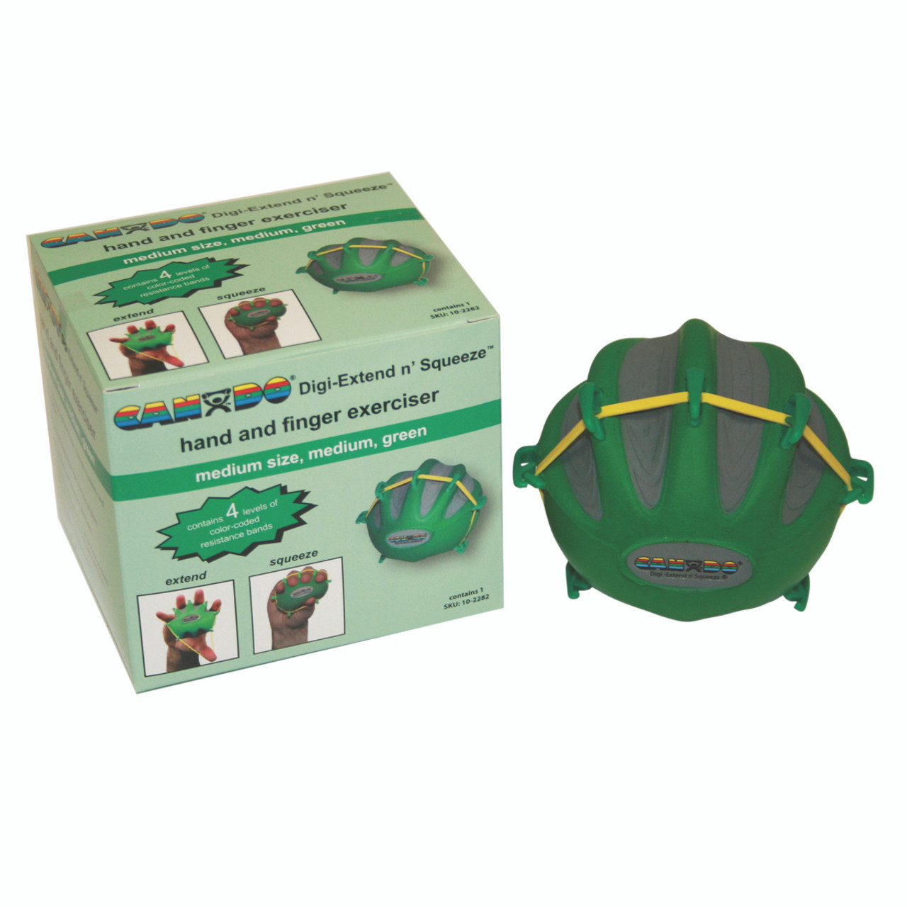 CanDo¨ Digi-Extend n' Squeeze¨ Hand Exerciser - Large - Green, moderate