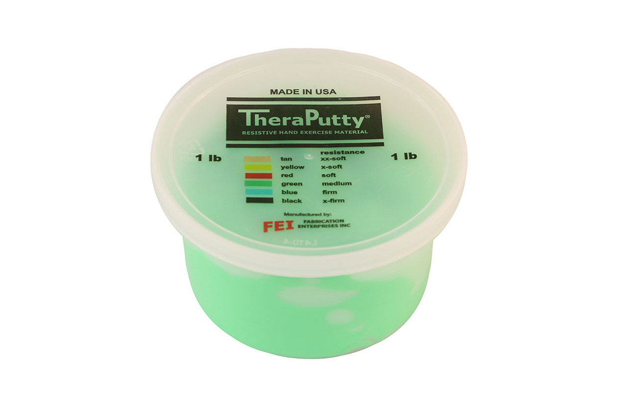 CanDo¨ Antimicrobial Theraputty¨ Exercise Material - 1 lb - Green - Medium