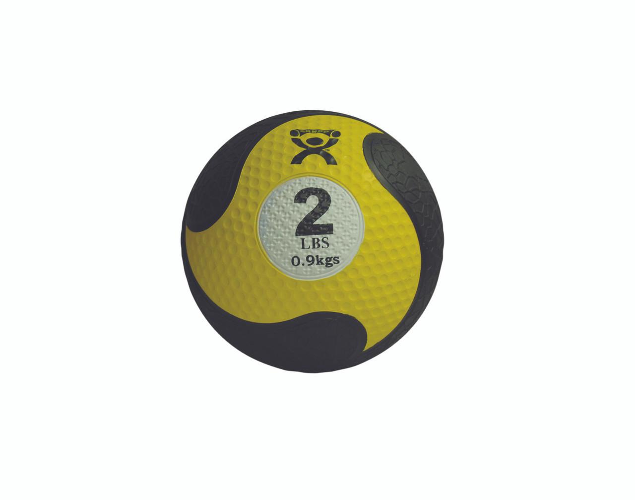 """CanDo¨ Firm Medicine Ball - 8"""" Diameter - Yellow - 2 lb"""