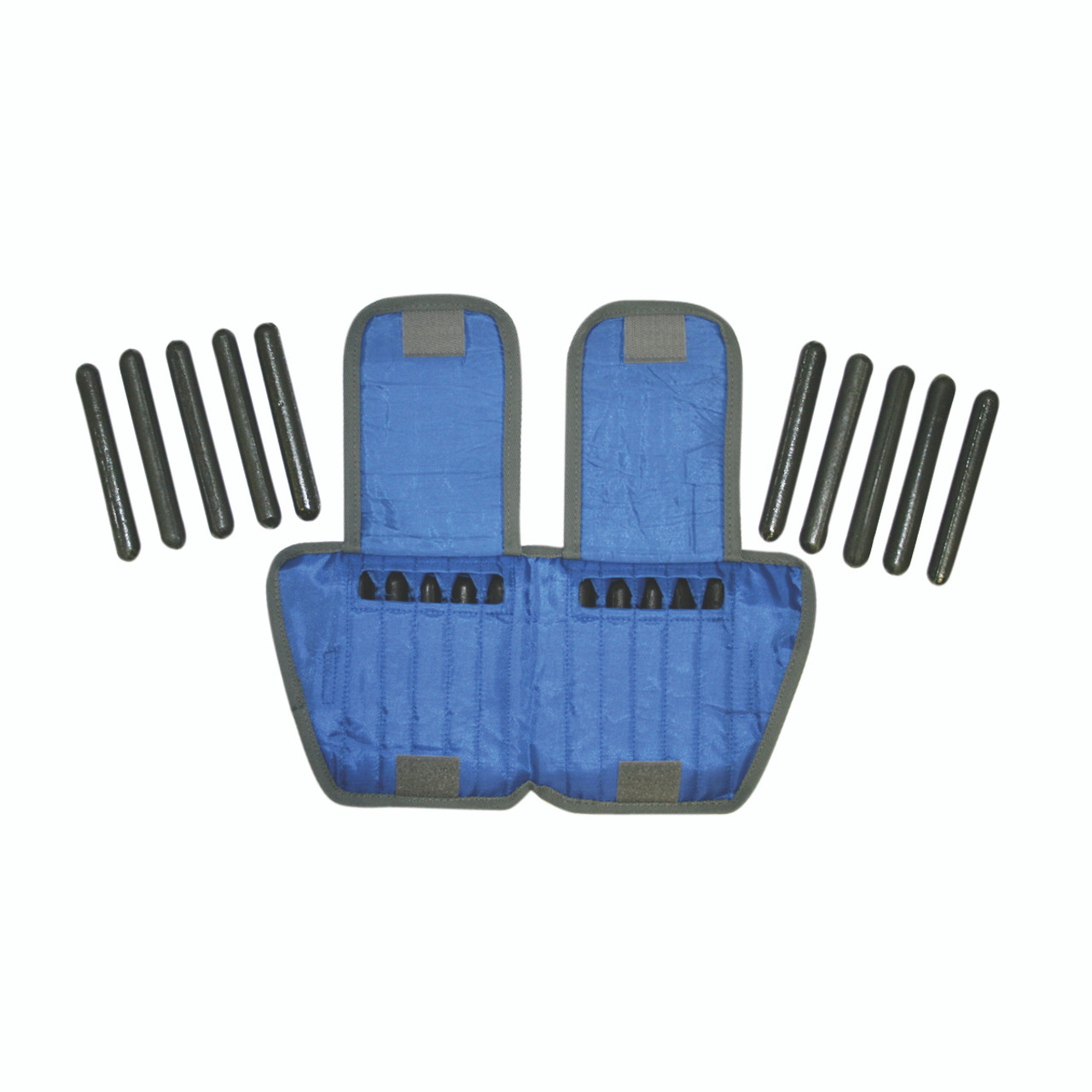 The Adjustable Cuff¨ ankle weight - 10 lb - 20 x 0.5 lb inserts - Blue - each