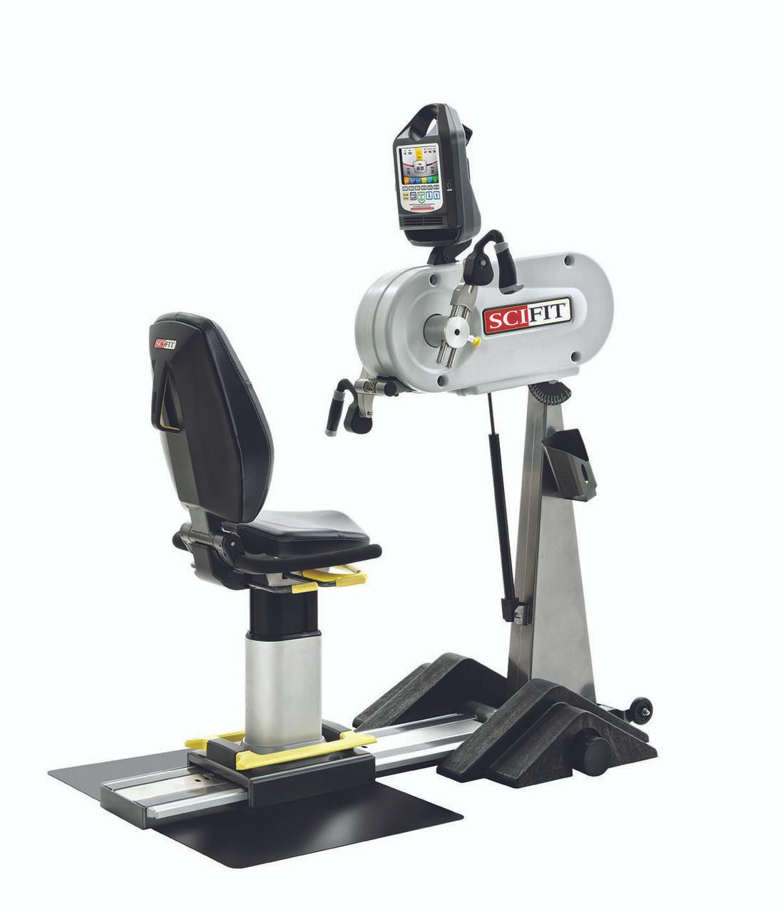 SciFit PRO1 Upper Body Exerciser - Adjustable Tilt Head & Cranks - Premium Seat - Wheelchair Platform