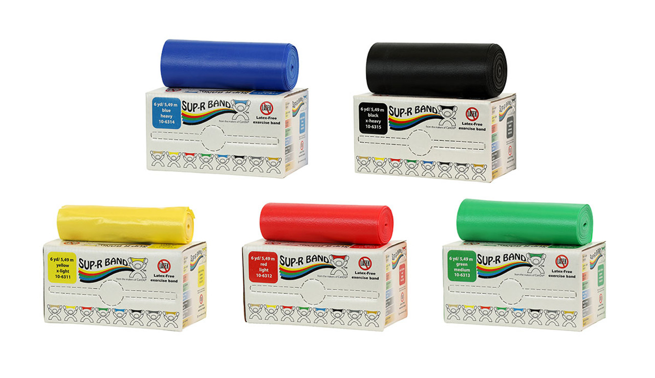 Sup-R Band Latex Free Exercise Band x-heavy Black 6 yard roll