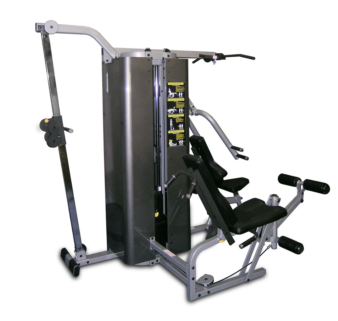 """Inflight Vanguard 4 Stack w/ Cable Crossover Compact 54"""" Beam with Full Shrouds"""