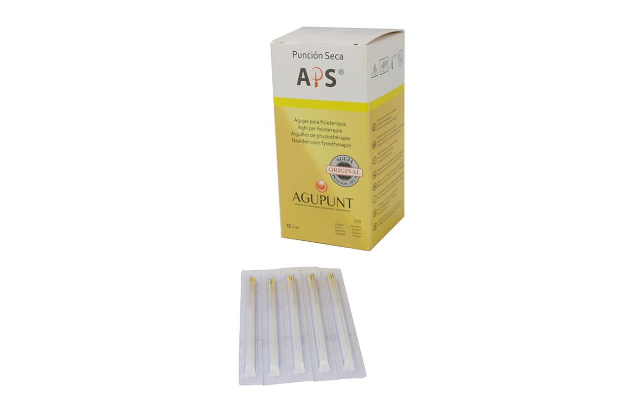 APS Dry Needling Needle, 0.25  x 40mm, Yellow Tip, 100/Box