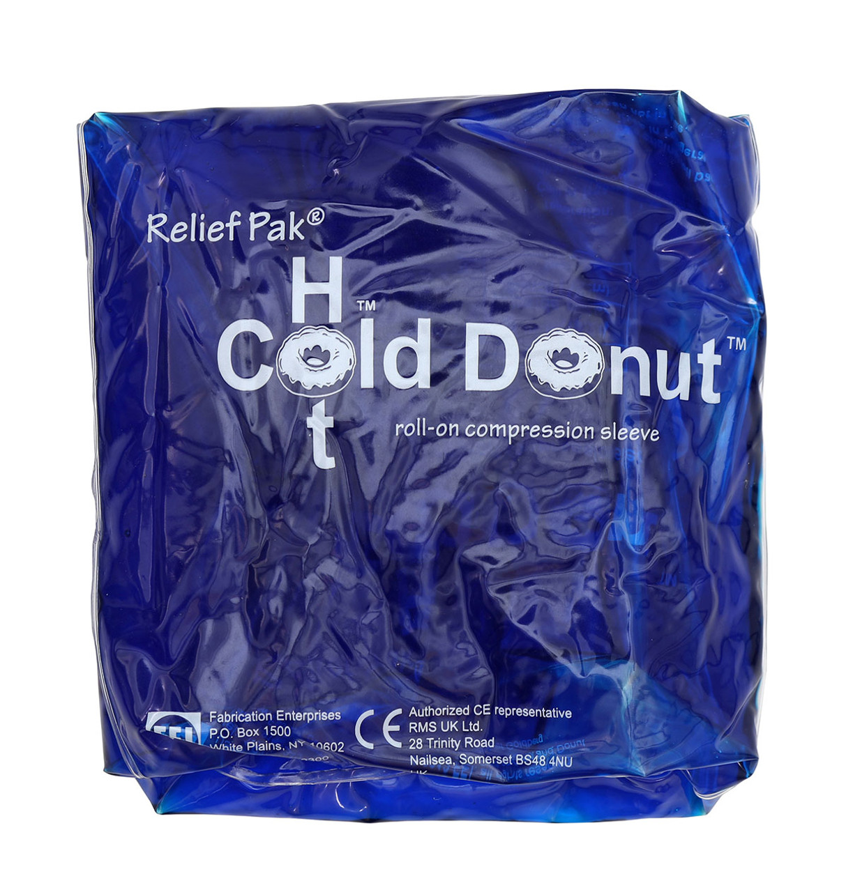 """Relief Pak¨ Cold n' Hot¨ Donut¨ Compression Sleeve - large (for 4-10"""" circumference) - Case of 10"""
