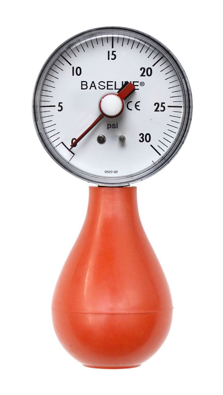 Baseline¨ Dynamometer - Pneumatic Squeeze Bulb - 30 PSI Capacity, with reset