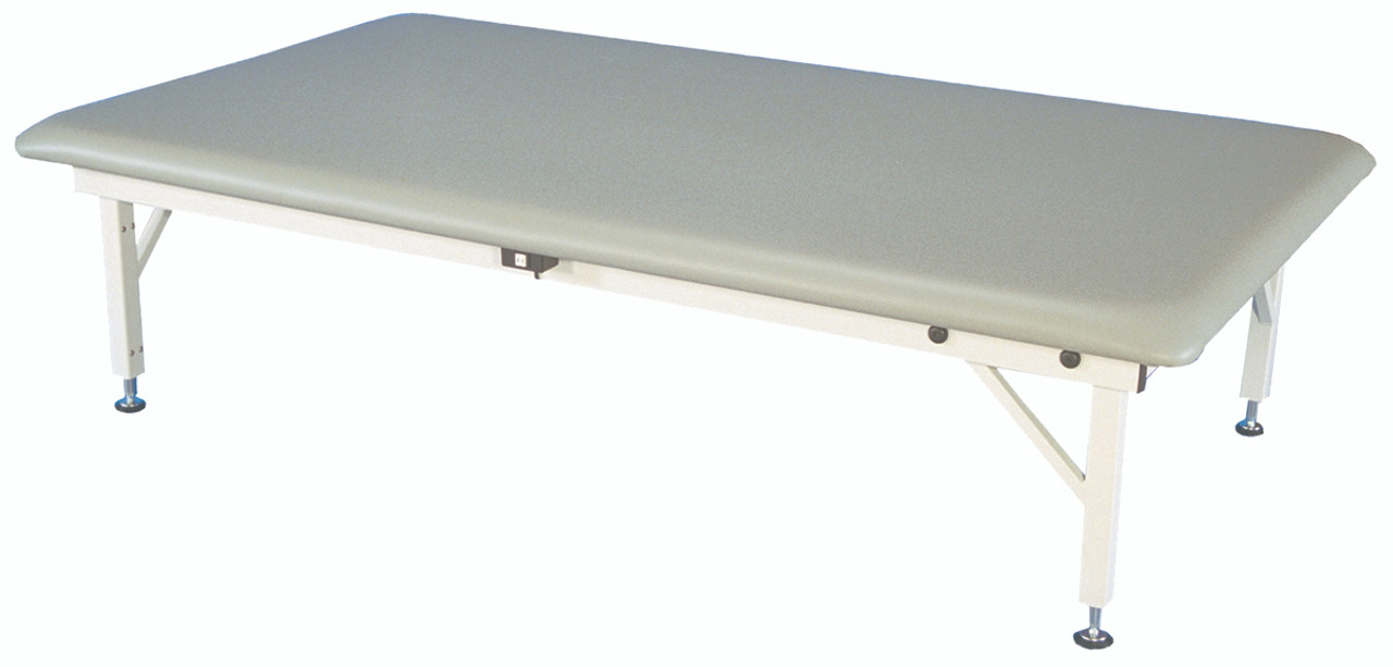 "bariatric mat platform table - electric hi-low, steel frame, 84"" L x 48"" W x 20"" - 30"" H , 900 lb. weight capacity"