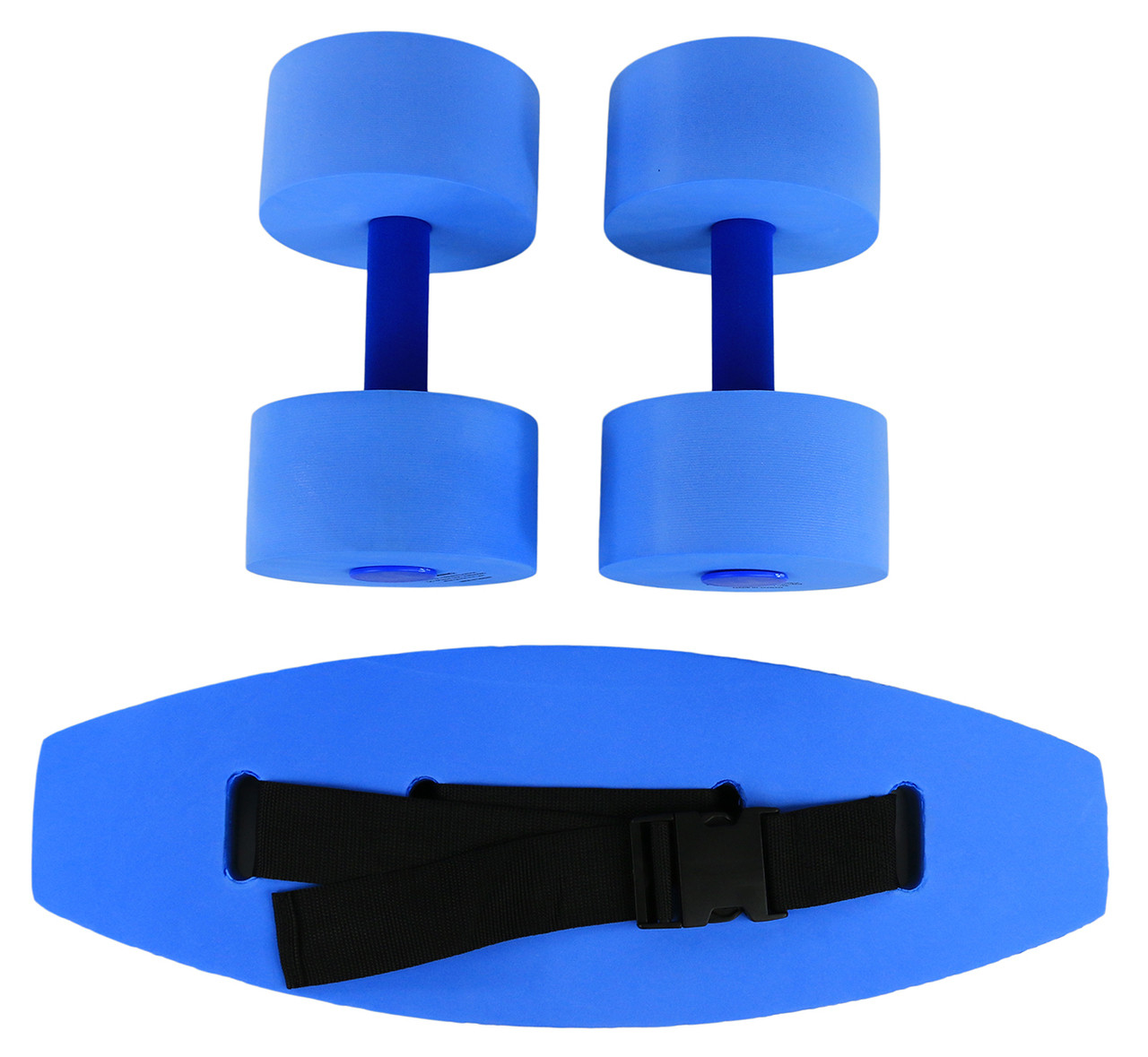 CanDo¨ aquatic exercise kit, (jogger belt, hand bars) small, blue