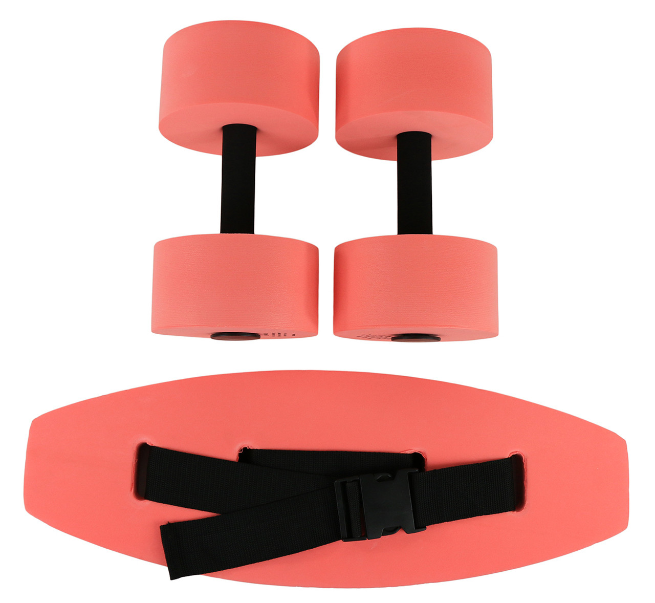 CanDo¨ aquatic exercise kit, (jogger belt, hand bars) small, red