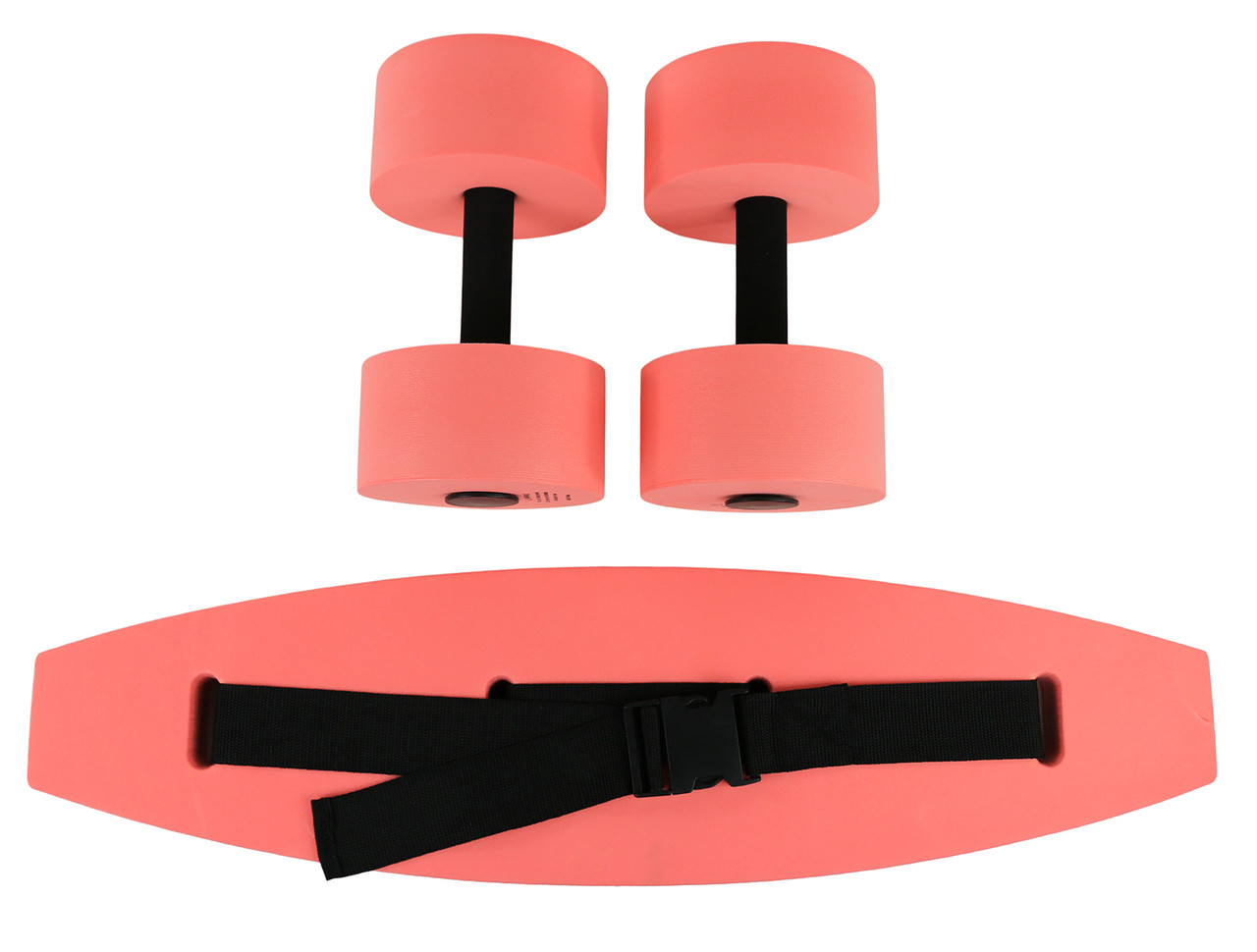 CanDo¨ aquatic exercise kit, (jogger belt, hand bars) medium, red