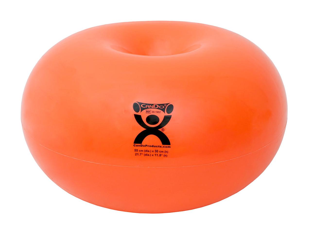 """CanDo¨ Donut Ball - Orange - 22"""" Dia x 12"""" H (55 cm Dia x 30 cm H)"""
