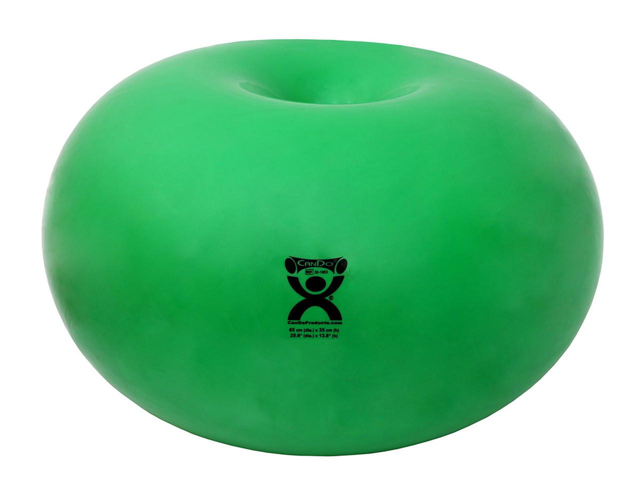 """CanDo¨ Donut Ball - Green - 26"""" Dia x 14"""" H (65 cm Dia x 35 cm H)"""