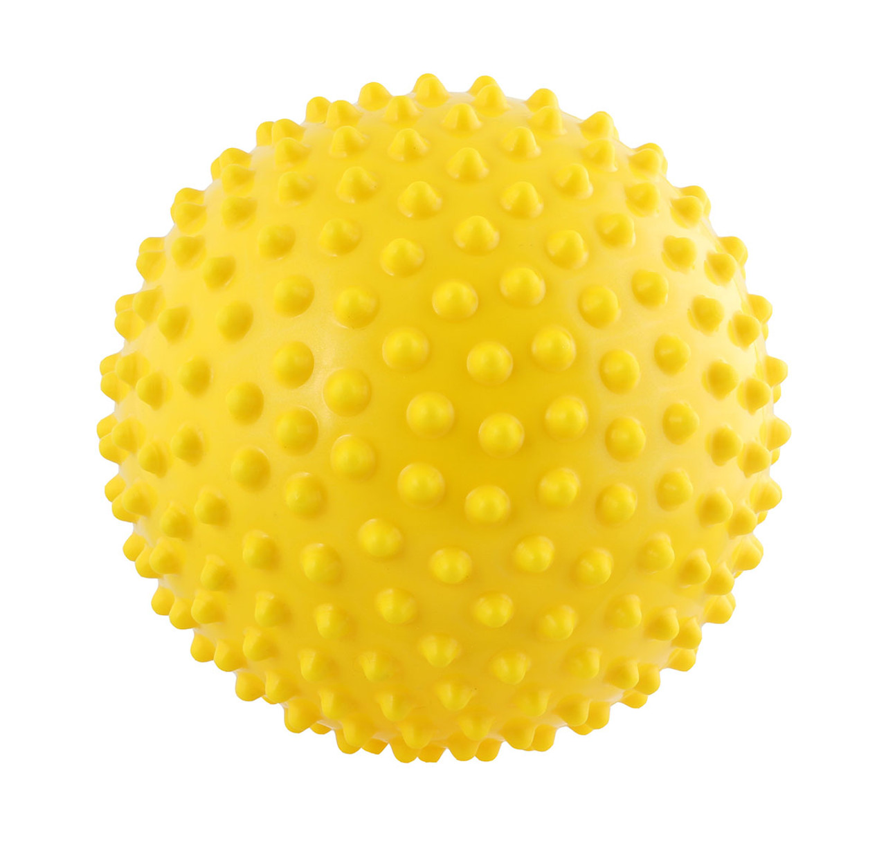 Massage ball, 15 cm (6.0 inches), yellow,  1 dozen