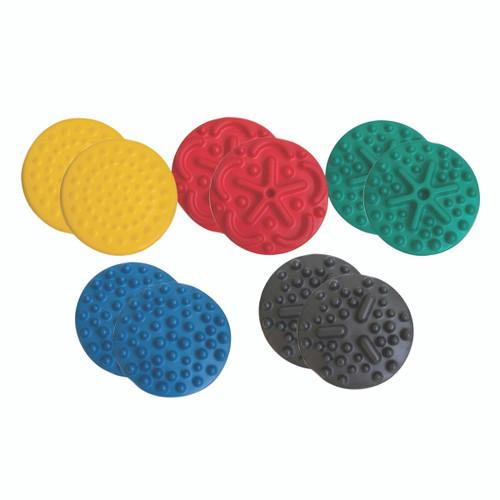 "CanDo¨ Progressive Instability Pad - 20"" diameter - 10-piece set (2 each: yellow, red, green, blue, black)"