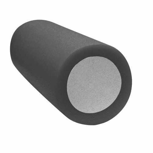 "CanDo¨ 2-Layer Round Foam Roller - 6"" x 15"" - Black - Extra-Firm"