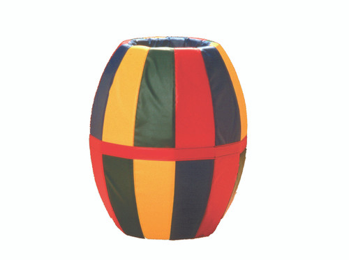 "Barrel Roll (multi-colored) 38""L x 32""Diam."