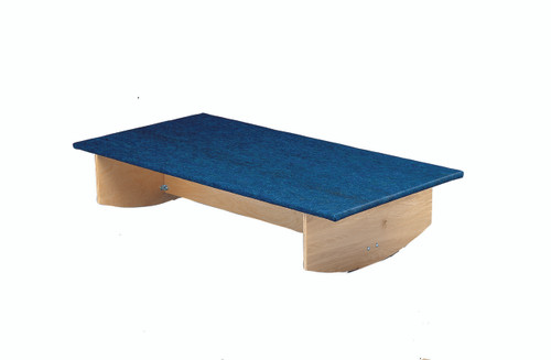 """Rocker Board - Wooden with carpet - side-to-side - 30"""" x 60"""" x 12"""""""