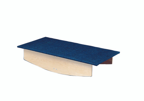 """Rocker Board - Wooden with carpet - front-to-back - 30"""" x 60"""" x 12"""""""