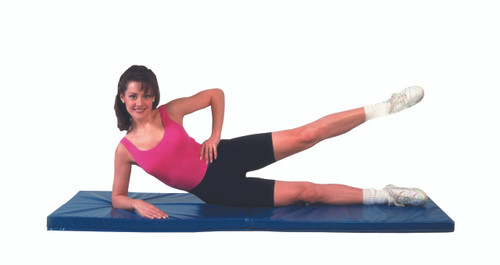 """CanDo¨ Exercise Mat - Center Fold - 1"""" PU Foam with Cover - 2' x 5' - Specify Color"""