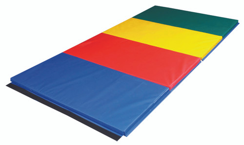 """CanDo¨ Accordion Mat - 1-3/8"""" EnviroSafe¨ Foam with Cover - 4' x 8' - Rainbow Colors"""