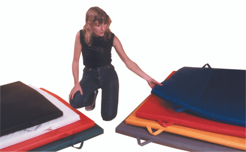 """CanDo¨ Mat with Handle - Non Folding - 1-3/8"""" EnviroSafe¨ Foam with Cover - 6' x 12' - Specify Color"""