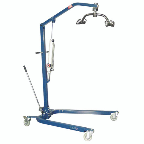 Lumex¨ Hydraulic Powered Patient lift - 6 point cradle - blue