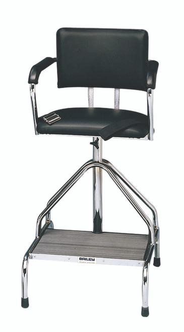 Adjustable high-boy whirlpool chair with belt, rubber tips