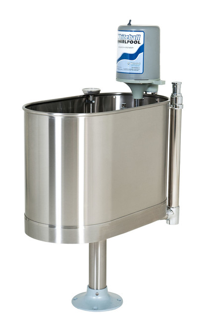 """Extremity stationary whirlpool with stand, E-22-SP 22 gallon, 32""""Lx15""""Wx25""""D"""