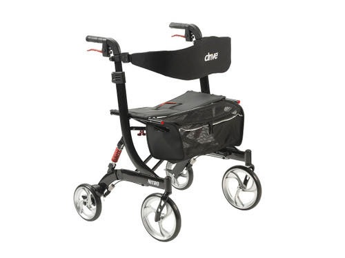 Nitro Euro Style Walker Rollator, Heavy Duty, Black
