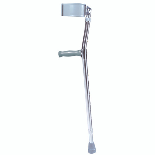"Forearm adjustable aluminum crutch, adult (5' 0"" - 6' 2""), 1 pair"