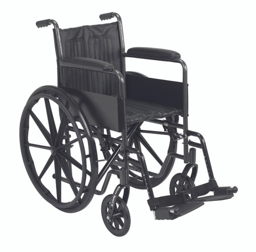 "16"" wheelchair with fixed arm, swing away footrest"