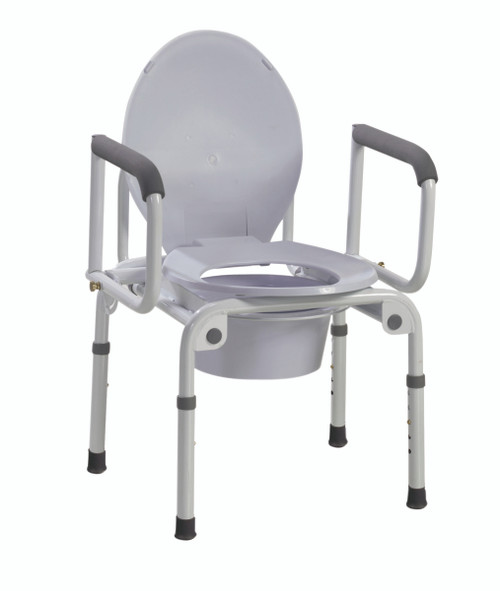 """Commode with drop arms, deluxe steel, 19-23"""" height, 1 each"""